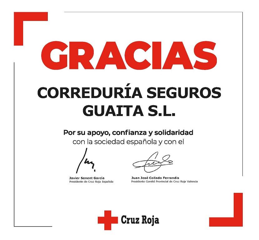 GRACIAS Correduria Guaita Cruz Roja