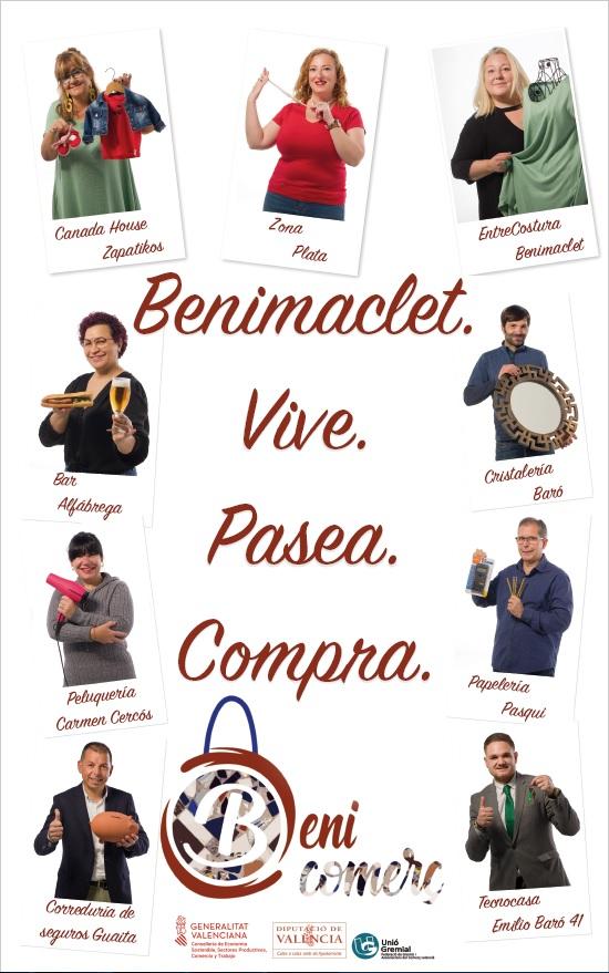Cartel de campaña los comercios de benimaclet